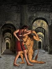 Dall'app Mostri mitologici-Teseo e il Minotauro
