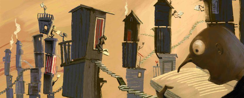 Leggere! illustrazione per la Biblioteca Civica di Parma